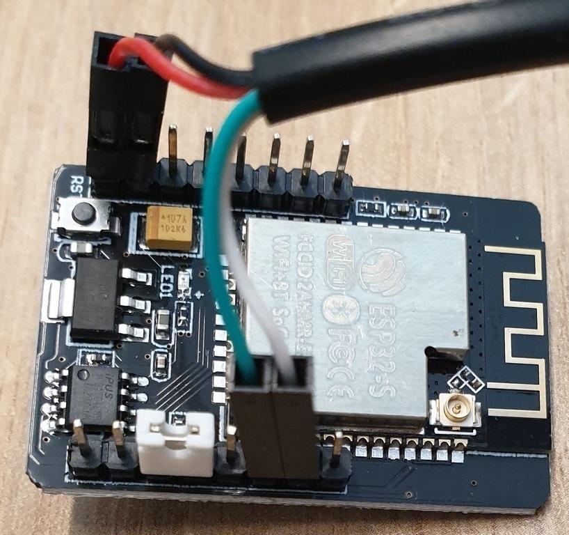ESP32-CAM - Anschluß für Programmierung